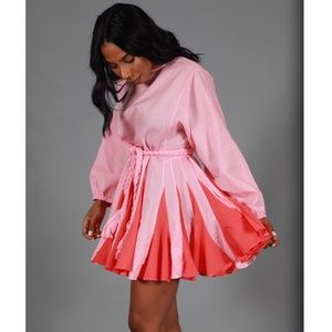 Two-tone mini dress